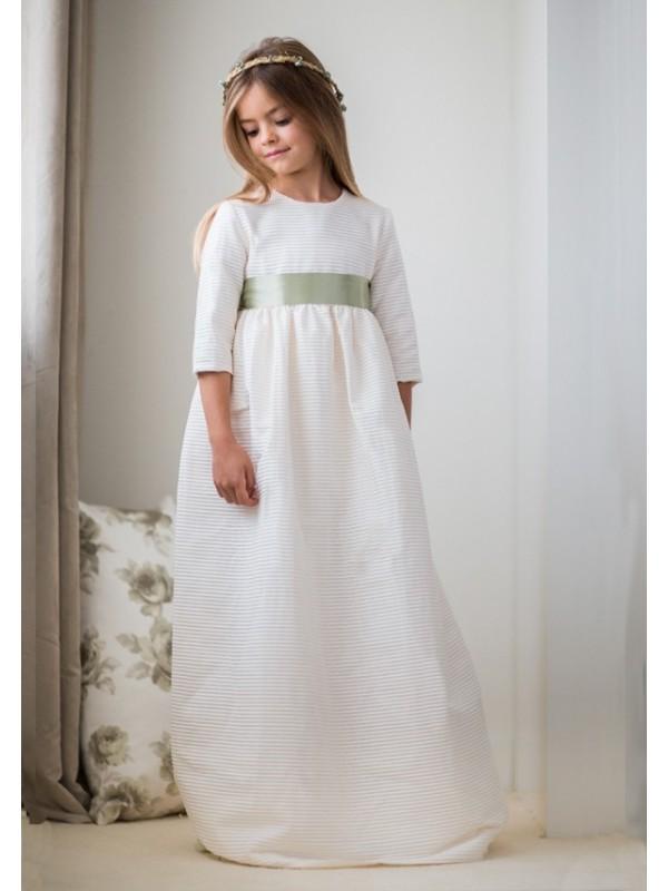 15 Vestido De Comunión Canutillo Mini Beige
