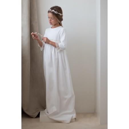 38. Vestido de comunion Sarga con plisado (sin lazada)