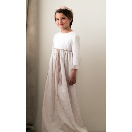 41. Vestido de comunion Adamascado Total