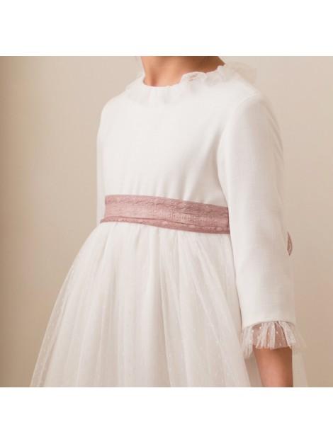 Vestido escote espalda rosa palo