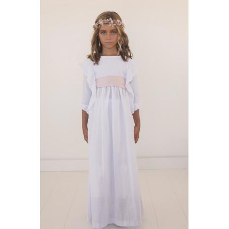 28. Vestido de comunion plumetti blanco alas