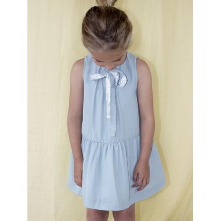 SS19. 8.Vestido azulon con puntilla charleston