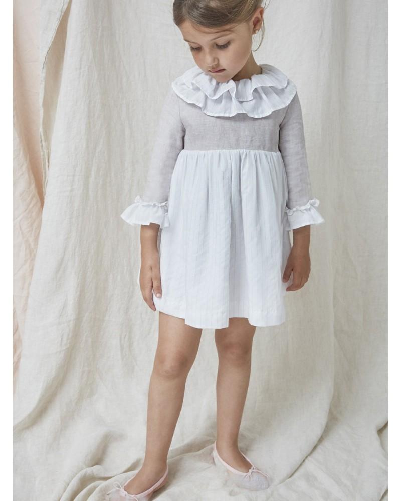 SS19. 13.Vestido combi lino y mil rayas