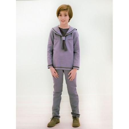 M.5.Conjunto camisola y pantalón marinero azul