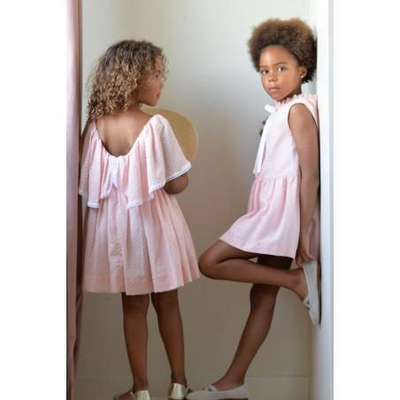 SS20. 26. Vestido capa plumetti rosa (NUEVO)