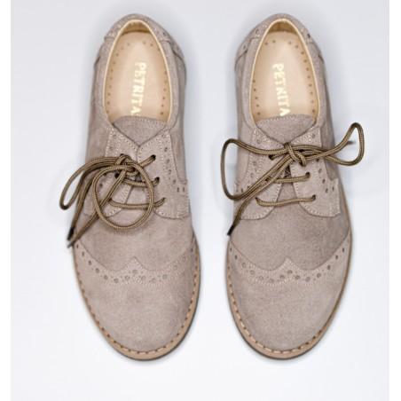Zapato comunión niño blucher ante piedra