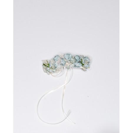 C.2.Tocado flor verde tul