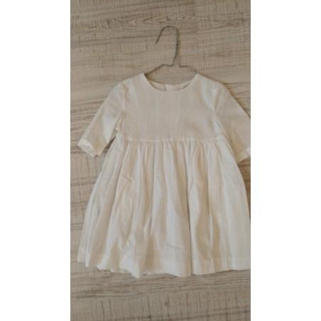 copy of A.20. 4.Vestido corto plumetti blanco SIN TUL
