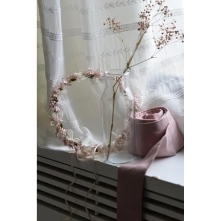 C.13.Corona flor rosa tul
